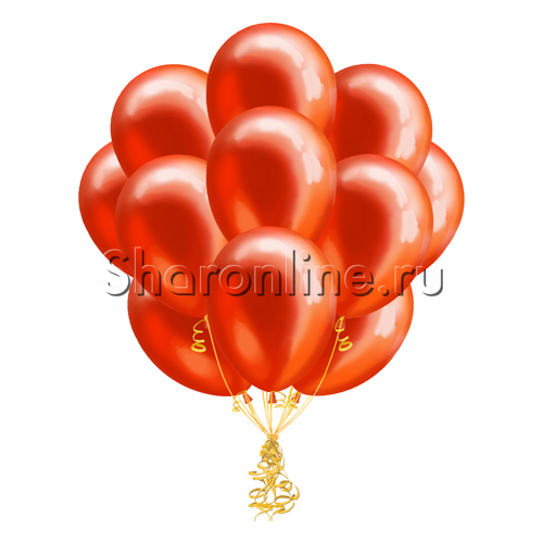 Фото №2: Облако красных шариков металлик