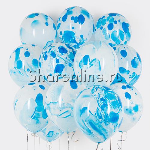Фото №1: Облако многоцветных голубых шариков