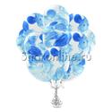 Фото №2: Облако многоцветных голубых шариков