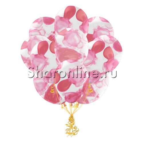 Фото №1: Облако многоцветных розовых шариков