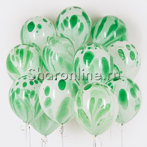 Фото №1: Облако многоцветных зеленых шариков