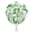 Фото №2: Облако многоцветных зеленых шариков