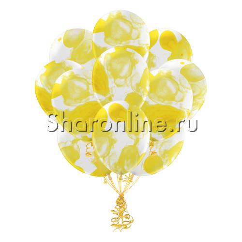 Фото №1: Облако многоцветных желтых шариков