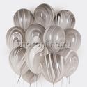 Фото №1: Облако мраморных черно-белых шариков