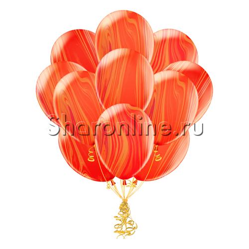 Фото №1: Облако мраморных красно-оранжевых шариков