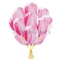 Фото №2: Облако мраморных розово-белых шаров