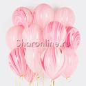 Фото №1: Облако мраморных розово-белых шаров