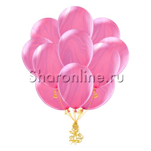 Фото №2: Облако мраморных розово-сиреневых шариков
