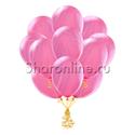 Фото №1: Облако мраморных розово-сиреневых шариков
