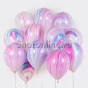 Фото №1: Облако мраморных сиренево-голубых шариков
