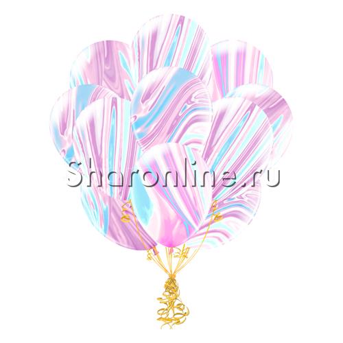 Фото №2: Облако мраморных сиренево-голубых шариков