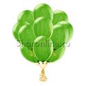 Фото №1: Облако мраморных зеленых шариков