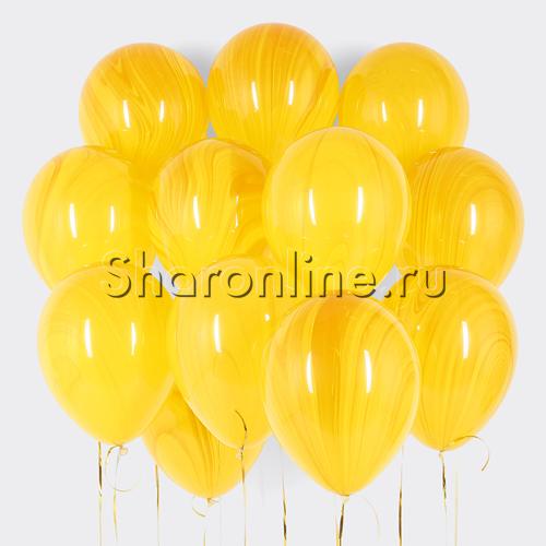 Фото №1: Облако мраморных желто-оранжевых шариков