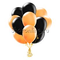 Облако оранжево-черных шариков