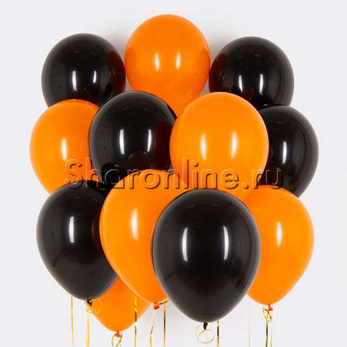 Фото №1: Облако оранжево-черных шариков