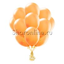 Облако оранжевых шариков