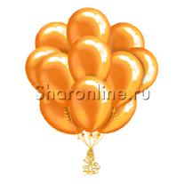 Облако оранжевых шариков металлик