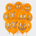 """Фото №1: Облако оранжевых шариков """"Зловещая тыква"""""""