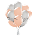 Фото №1: Облако персиково-серых шаров