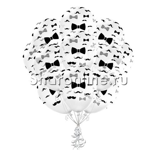 """Фото №1: Облако прозрачных шариков """"Джентльмен"""""""