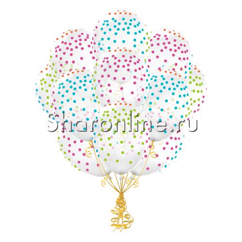 """Фото №2: Облако Прозрачных шариков """"Разноцветное конфетти"""""""