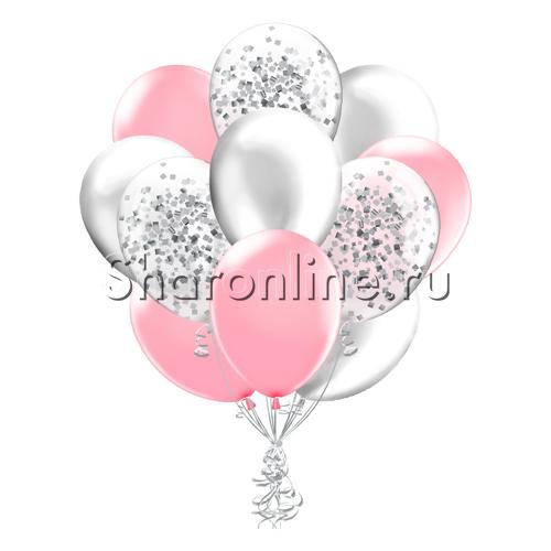 Фото №2: Облако шариков Розовая дымка