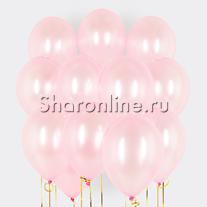 Облако розовых шариков металлик