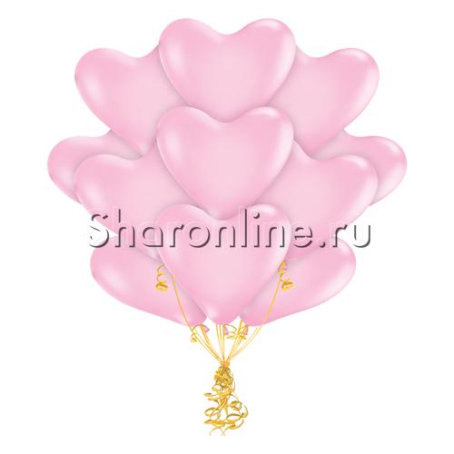 Фото №2: Облако розовых шариков сердечек 30 см