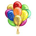 """Фото №1: Облако шариков """"С днем рождения"""" премиум"""