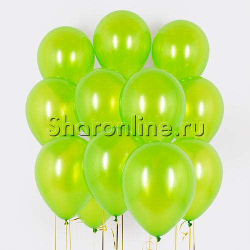 Фото №1: Облако салатовых шариков металлик