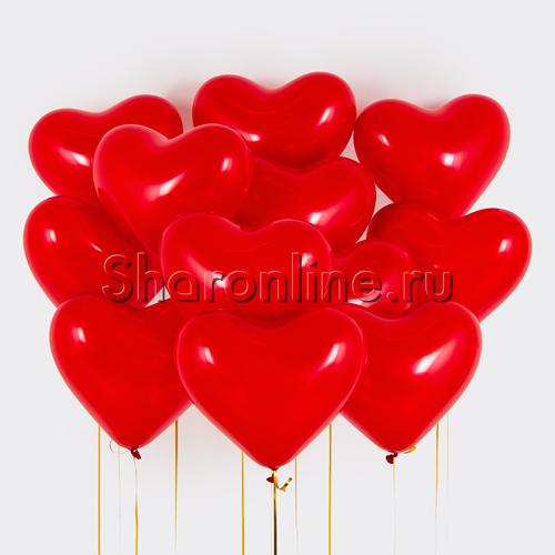 Фото №1: Облако сердечек 30 см