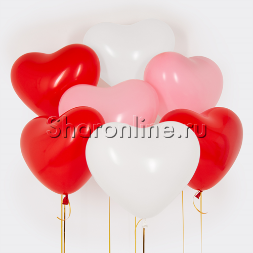 Фото №1: Облако сердечек Ассорти Премиум 41 см