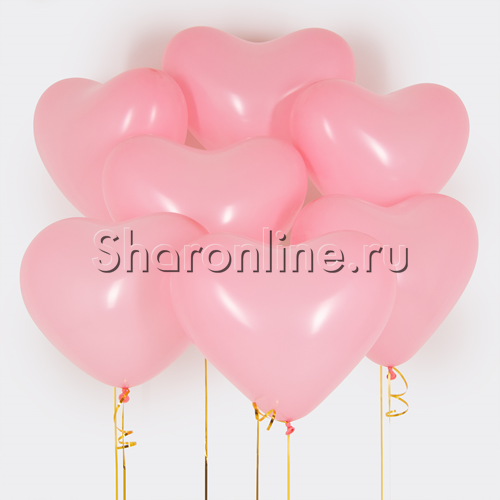 Фото №1: Облако сердечек Премиум Розовые 41 см