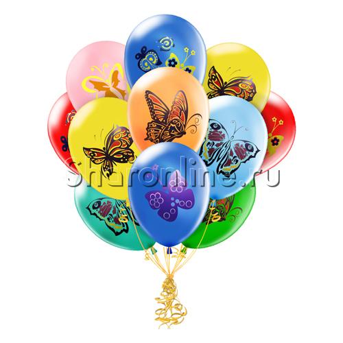 """Фото №1: Облако шариков """"Бабочки"""""""