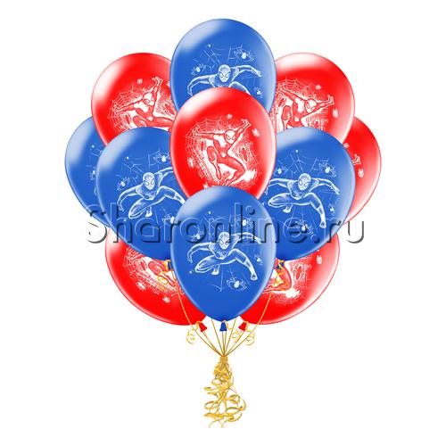 """Фото №1: Облако шариков """"Человек-Паук"""""""