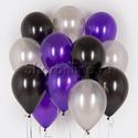"""Фото №1: Облако шариков """"Черная орхидея"""""""