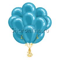 Облако шариков цвета морской волны металлик