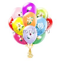 """Облако шариков """"Цветы"""""""