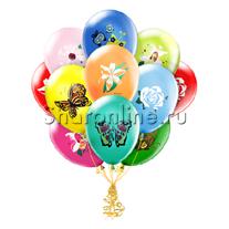 """Облако шариков """"Цветы и Бабочки"""""""