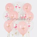 "Фото №1: Облако шариков ""Фламинго"""