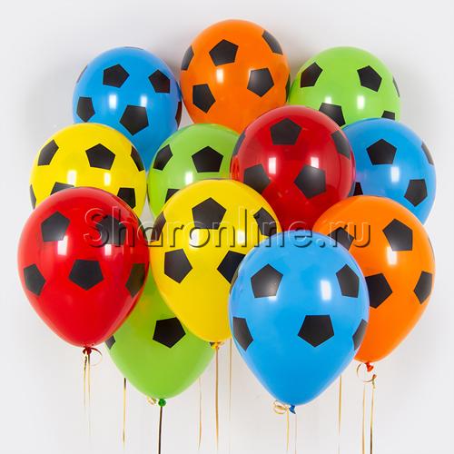 """Фото №1: Облако шариков """"Футбол"""""""