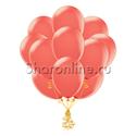 Фото №1: Облако шариков кораллового цвета