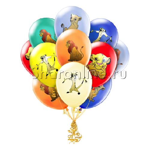 """Фото №1: Облако шариков """"Король Лев"""""""