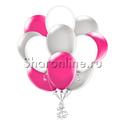 Фото №1: Облако шариков Малиновый шик