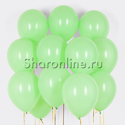 Фото №1: Облако шариков мятного цвета