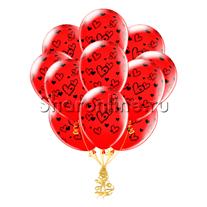 "Облако шариков ""Набросок сердец"""