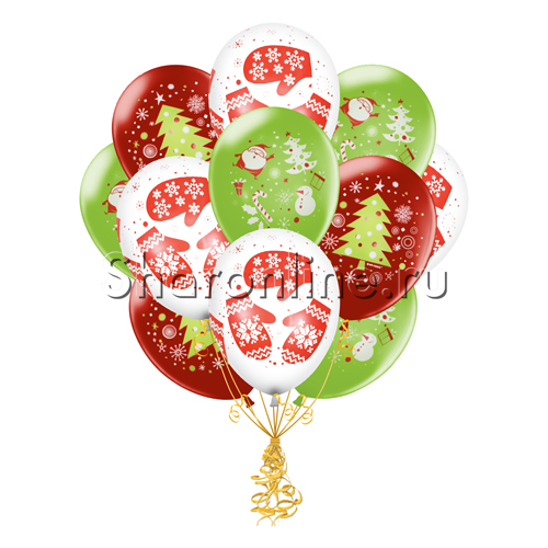 "Фото №1: Облако шариков ""Новогоднее волшебство"""