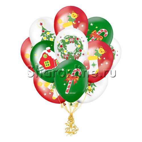 """Фото №1: Облако шариков """"Новогодние игрушки"""""""
