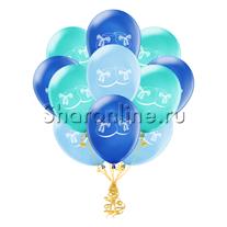 """Облако шариков """"Пинетки для малыша"""""""