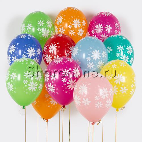 """Фото №1: Облако шариков """"Ромашки"""""""
